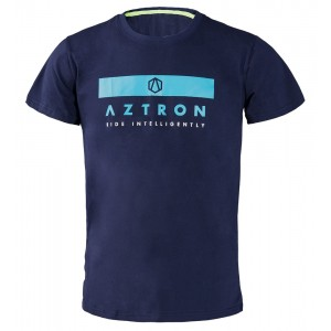 Tee Shirt Aztron logo navy