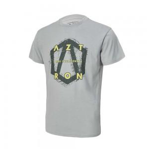 Tee Shirt Aztron full logo grey