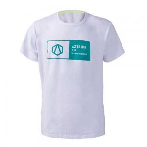 Tee Shirt Aztron Logo white